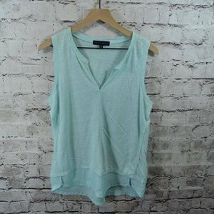 Sanctuary City Sky Blue Linen Chiffon Tunic Tank
